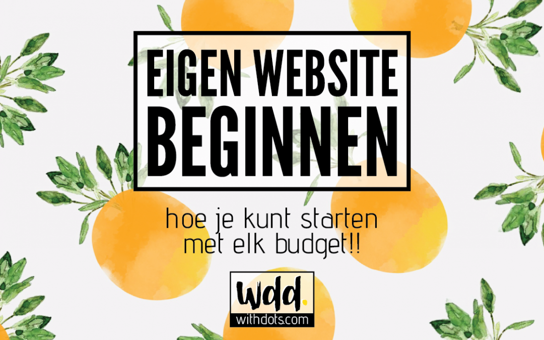 Een eigen website beginnen
