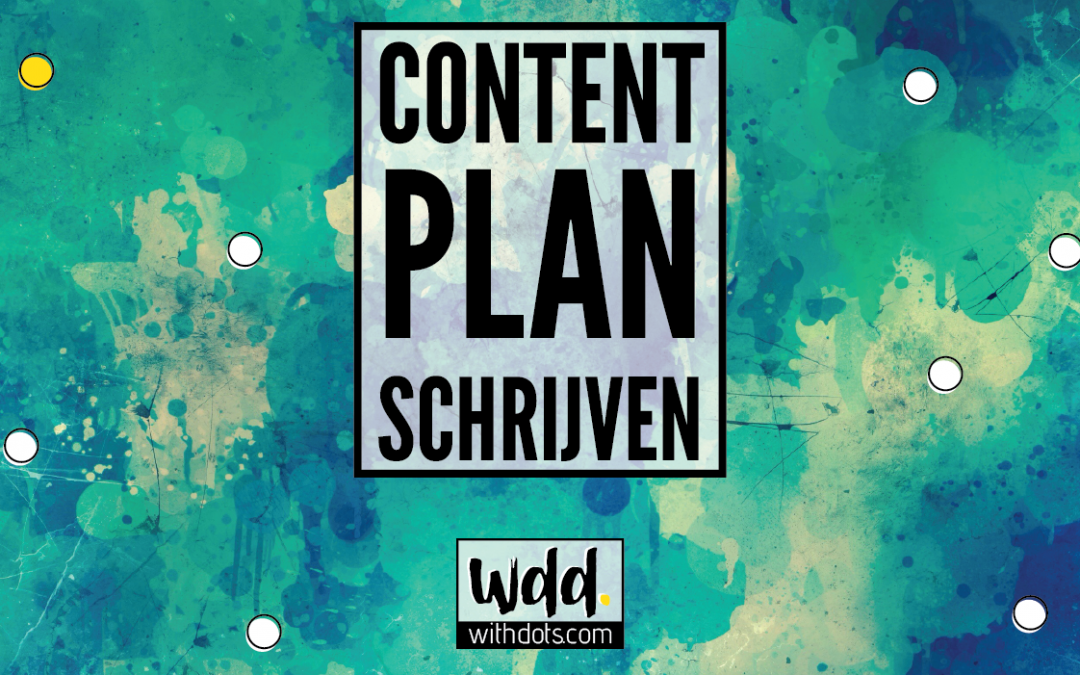 Super handig content plan voor je blog!
